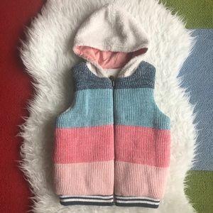 Hanna Andersson reversible zip up sweater vest